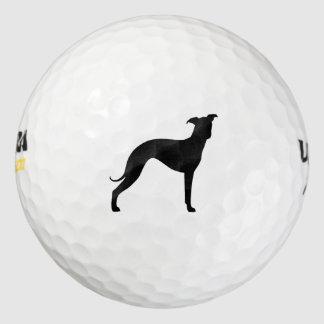 イタリアン・グレーハウンドのシルエット ゴルフボール