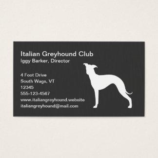 イタリアン・グレーハウンド犬のシルエット 名刺