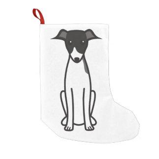 イタリアン・グレーハウンド犬の漫画 スモールクリスマスストッキング