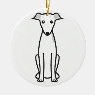 イタリアン・グレーハウンド犬の漫画 セラミックオーナメント