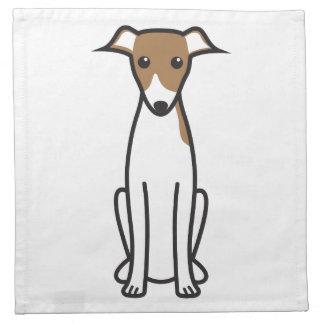イタリアン・グレーハウンド犬の漫画 ナプキンクロス