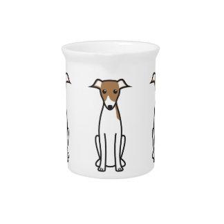 イタリアン・グレーハウンド犬の漫画 ピッチャー