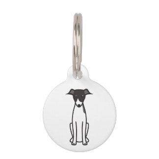 イタリアン・グレーハウンド犬の漫画 ペット ネームタグ