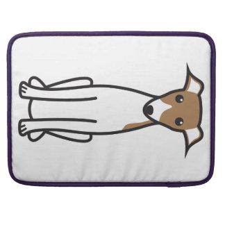 イタリアン・グレーハウンド犬の漫画 MacBook PROスリーブ