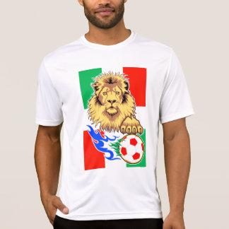 イタリア人の、メキシコまたはハンガリーのサッカーのライオン Tシャツ
