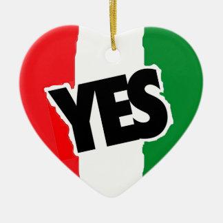 イタリア人へのYes セラミックオーナメント