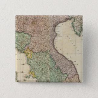 イタリア北の2 5.1CM 正方形バッジ