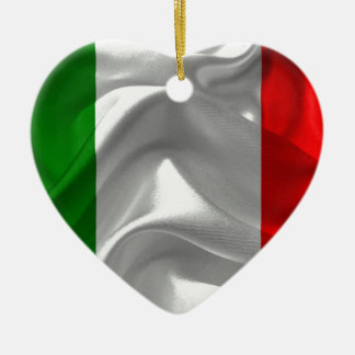 イタリア旗 セラミックオーナメント