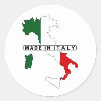 イタリア製国の地図の旗プロダクトラベル 丸形シールステッカー