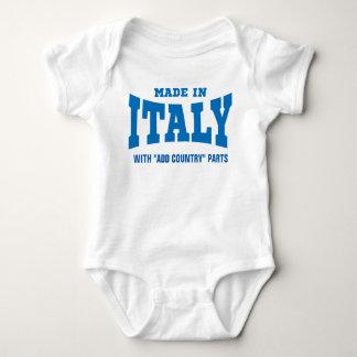 """イタリア製""""カスタムな国""""の部品と加えて下さい ベビーボディスーツ"""