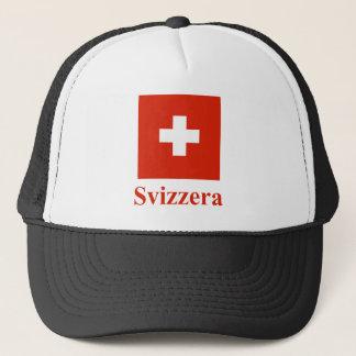 イタリア語の名前のスイス連邦共和国の旗 キャップ