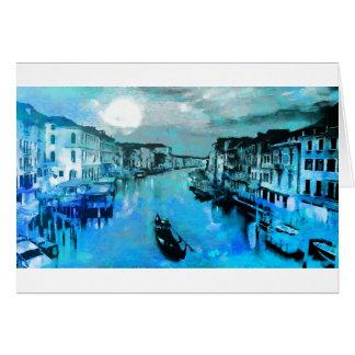 イタリア語の青い絹 カード