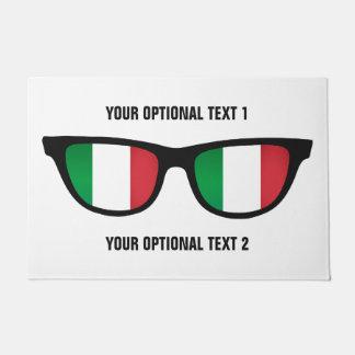 イタリア語はカスタムなドア・マットを影で覆います ドアマット