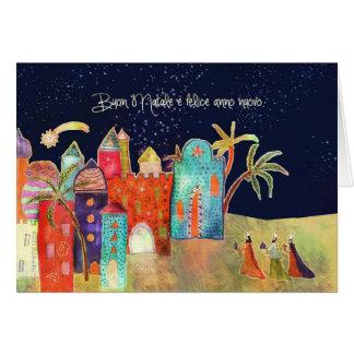 イタリア語、Buonのnataleのメリークリスマス カード