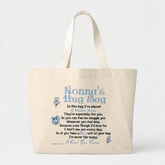 イタリア語- Nonna -独身のな詩 ラージトートバッグ