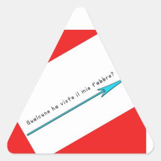イタリア鍛治屋 三角形シール