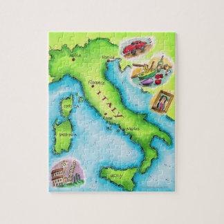 イタリア2の地図 ジグソーパズル