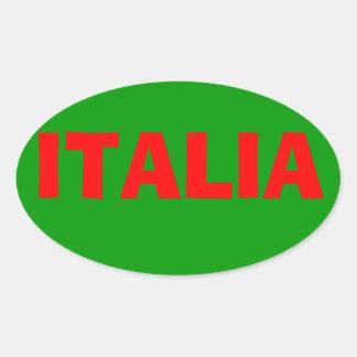 """""""イタリア""""のステッカー 楕円形シール"""