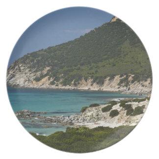イタリア、サルジニア、Solanas。 浜 プレート