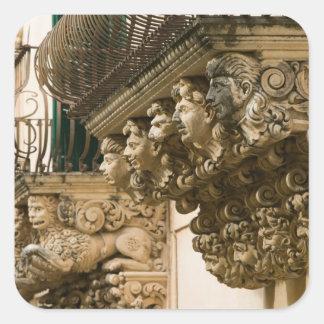 イタリア、シシリー、NOTO: 最も素晴らしいバロック式の町 スクエアシール
