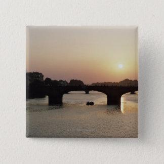 イタリア、タスカニー、フィレンツェ3 5.1CM 正方形バッジ