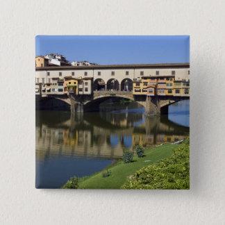 イタリア、タスカニー、フィレンツェ、Ponte Vecchio 2 5.1cm 正方形バッジ