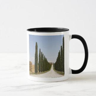 イタリア。 タスカニー。 Val D'Orcia (Orciaの谷) 3 マグカップ