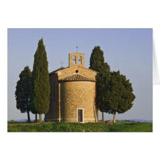 イタリア、タスカニー。 Vitaletaのチャペルのクローズアップ カード