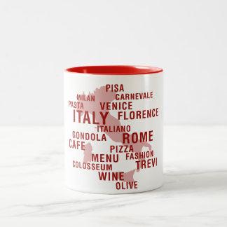 イタリア ツートーンマグカップ