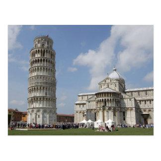 イタリア、ピサ。 ピサの斜塔 ポストカード