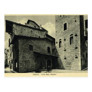 イタリア、フィレンツェ、フィレンツェ1908年の家Alighieri ポストカード