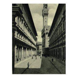 イタリア、フィレンツェ、フィレンツェ1908年、フィレンツェのガレリア ポストカード