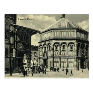 イタリア、フィレンツェ、フィレンツェ1908年、フィレンツェの大教会堂 ポストカード
