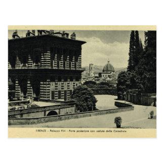 イタリア、フィレンツェ、フィレンツェ1908年、Palazzo Pitti、 ポストカード