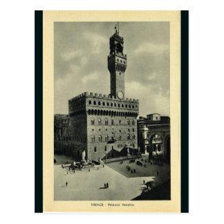 イタリア、フィレンツェ、フィレンツェ1908年、Palazzo Vecchio ポストカード