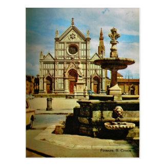 イタリア、フィレンツェ、フィレンツェ1908年、S. Croce ポストカード