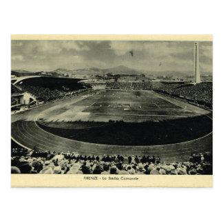 イタリア、フィレンツェ、フィレンツェ1908年、Stadio Communale ポストカード