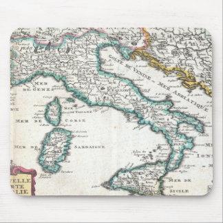 イタリア(1706年)のヴィンテージの地図 マウスパッド