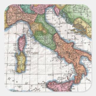 イタリア(1780年)のヴィンテージの地図 スクエアシール