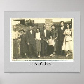 イタリア。 1931年 ポスター