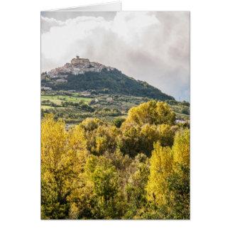 イタリア、Casoli、アブルッツォの景色 カード