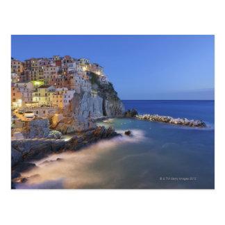 イタリア、Cinque TerreのLaのSpeziaの地域、 ポストカード