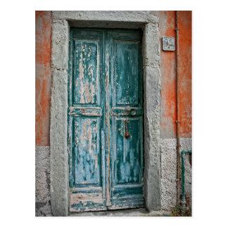 イタリア- Cinque Terre -のドア郵便はがき ポストカード