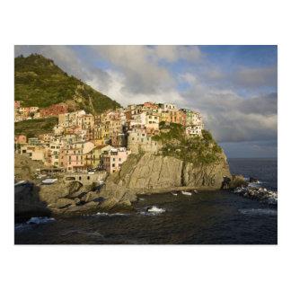 イタリア、Cinque Terre、Manarola。 崖の村 ポストカード