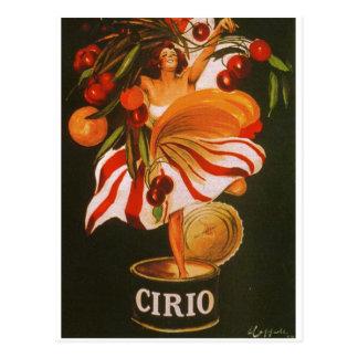 イタリア- Cirioのトマト ポストカード