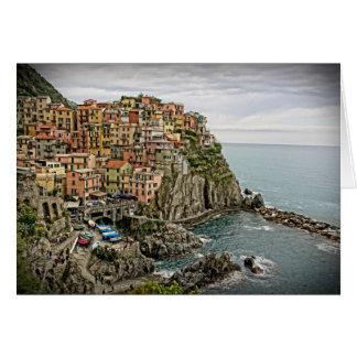イタリア- Manarola - Cinque Terreの端 カード