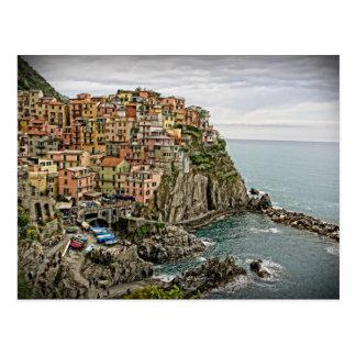 イタリア- Manarola - Cinque Terreの端 ポストカード