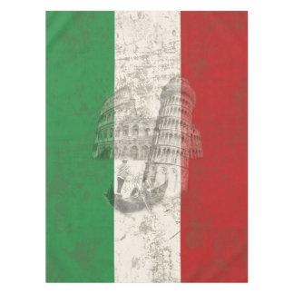 イタリアID157の旗そして記号 テーブルクロス