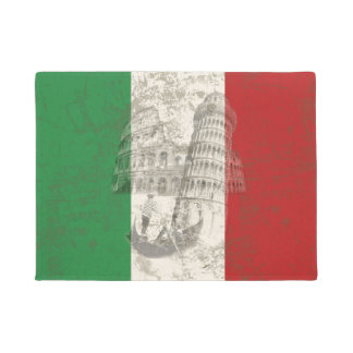 イタリアID157の旗そして記号 ドアマット