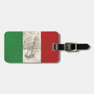 イタリアID157の旗そして記号 ラゲッジタグ